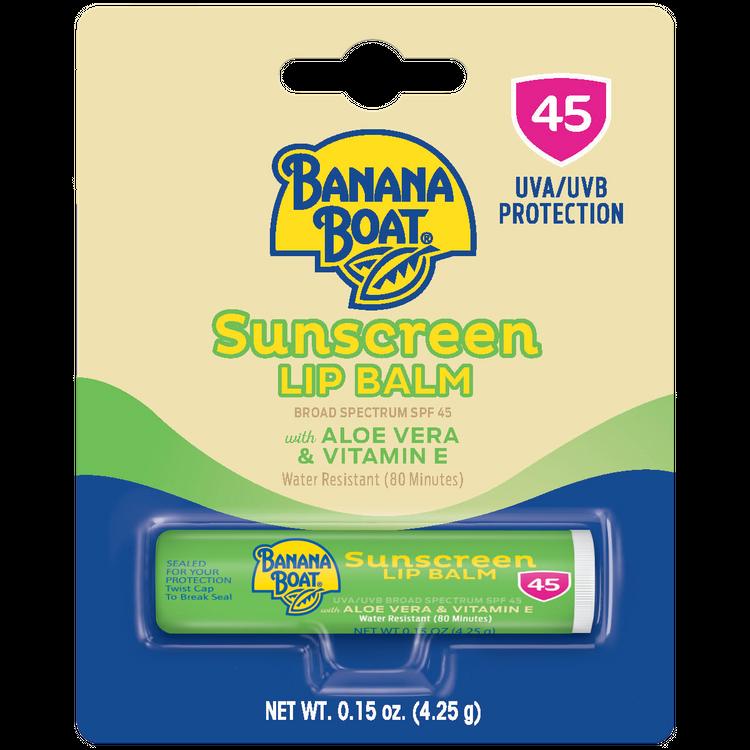 Banana Boat® Sunscreen Lip Balm with Aloe Vera and Vitamin E