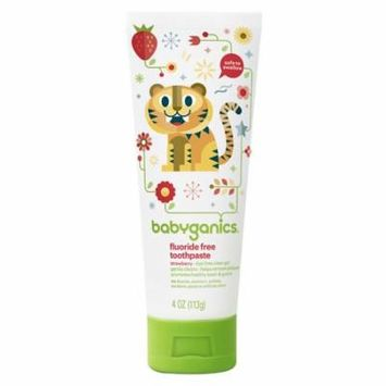 Babyganics Fluoride Free Toothpaste Strawberry4.0 oz.(pack of 6)