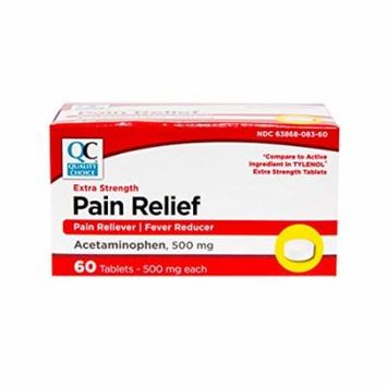 6 Pack Quality Choice Extra Strength Pain Relief Acetaminophen 500mg 100 Each