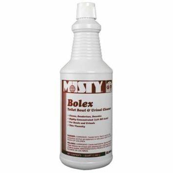 Bolex Toilet Bowl & Urinal Cleaner, Quart Bottle, 12 Bottles/Case, Lot of 1