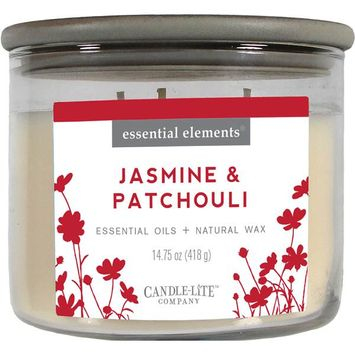 CANDLE-LITE™ Essential Elements® Jasmine & Patchouli 3-Wick Candle