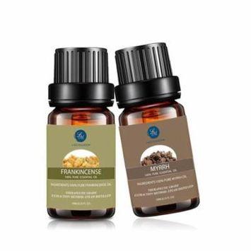 LAGUNAMOON™ Myrrh Essential Oil,Premium Natural Frankincense Essential Oils Therapeutic Grade Aromatherapy Oils Value 2 Pack 220844401