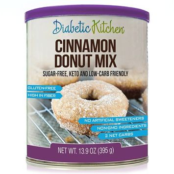 Diabetic Kitchen Cinnamon Donut Mix Is Sugar-Free, Low-Carb, Keto-Friendly, Gluten-Free, High-Fiber, Non-GMO, No Artificial Sweeteners or Sugar Alcohols Ever