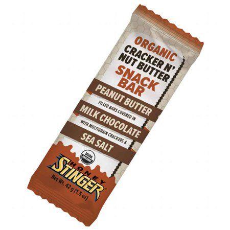 Honey Stinger Organic Cracker N' Nut Butter Bars - Peanut Butter and Milk Chocolate