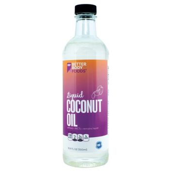 BetterBody Foods Liquid Coconut Oil â Pourable Coconut Oil, Contains 78% MCTs, Remains Liquid, Neutral Flavor and Aroma â 16.9 fl oz