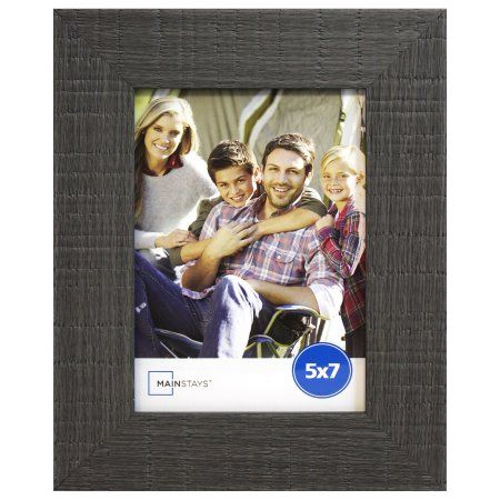 Harbortown Industries Mainstays 4W Rustic 5x7 Gray Photo Frame