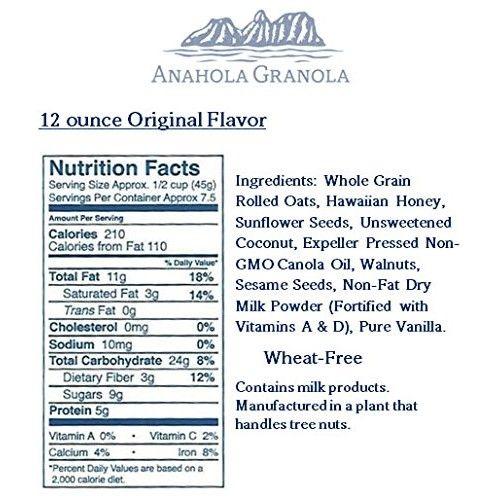ANAHOLA GRANOLA Original Granola, 12 Ounce [Original]
