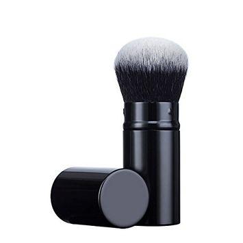 Mily Retractable Cosmetic Makeup Brush Kabuki Brush-Blush Brushes Incredibly Soft Makeup Brush Best for Blending Mineral Powder, Liquid, or Cream Bronzer & Foundation