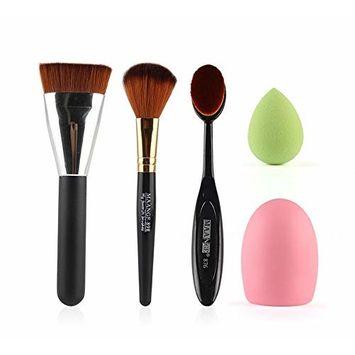 10 Pcs Pink Makeup Brushes Set Professional Brushes for Face Makeup Foundation Powder Blush Blending Fan Eyeshadow Eyebrow Brush Liquid Concealer Cosmetic