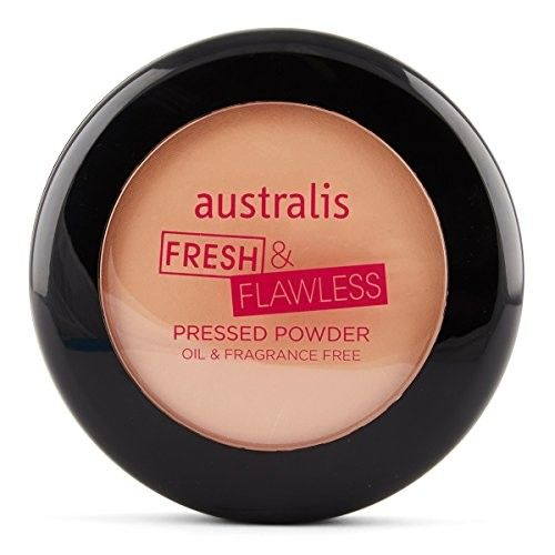 Australis Fresh and Flawless Matte Pressed Foundation Powder Face Skin Care Makeup - Natural