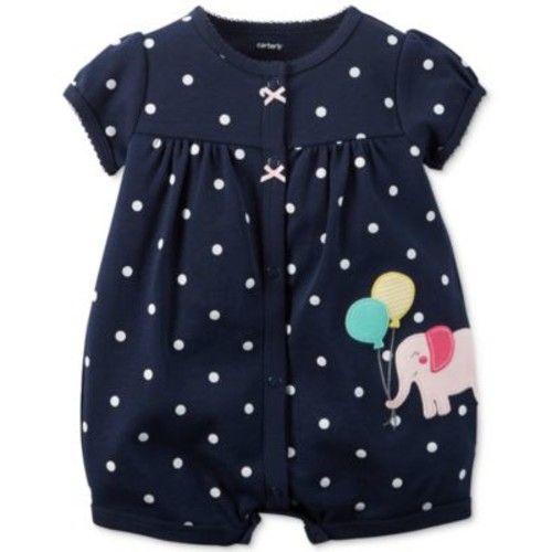 Baby Girls' Elephant Romper