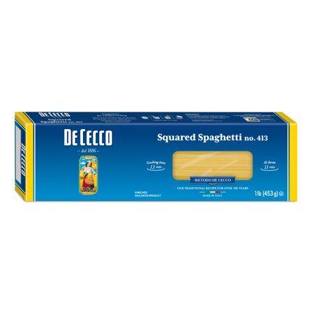 De Cecco Squared Spaghetti no.413 Pasta, 16 oz