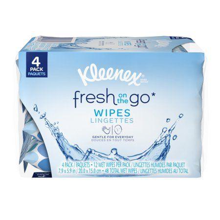 Kleenex® Fresh On the Go* Wipes 4-12 ct Packs