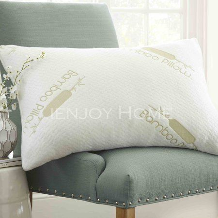 Ienjoy Home Premium Ultra Soft Bamboo Pillow â Cooling Hypoallergenic Memory Foam