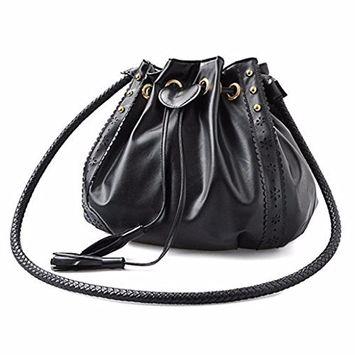 OVERMAL Women Leather Messenger Hobo Bags Handbag Shoulder Bag Tote Purse