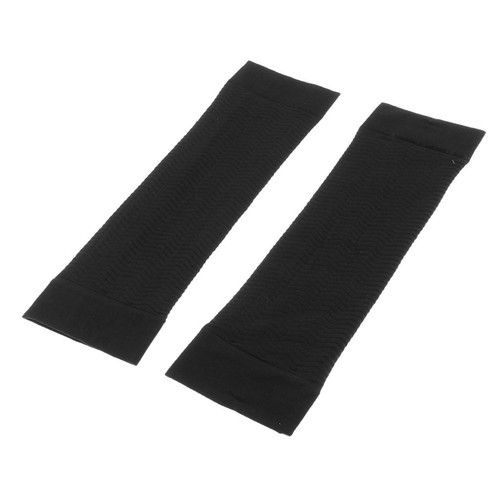 Jili Online 1Pair Women's Weight Loss Arms Compression Massage Shaper Sleeves Fat Cellulite Buster Wrap Belt Bands - Black: Health & Personal Care