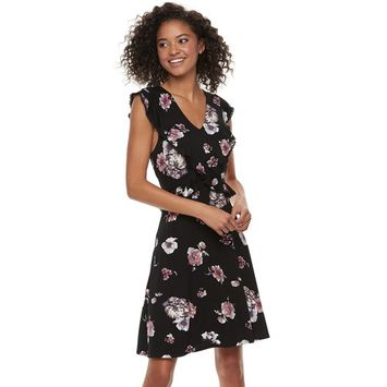 Juniors' American Rag Ruffled Floral Dress