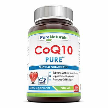 Pure Naturals COQ10 Kaneka Q10 Softgels, 200 mg, 180 Count