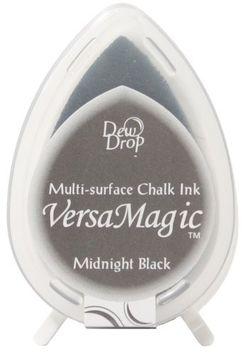 Tsukineko VersaMagic Multi Surface Dew Drop Chalk Inkpad-Midnight Black