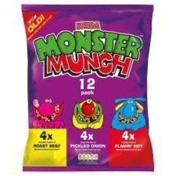 Walkers Monster Munch Variety Snacks 12 X 25G