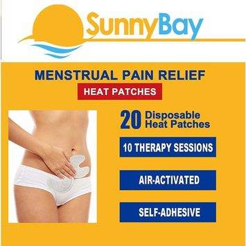 Menstrual Cramp and Pain Relief Heat Patches: (Pack of 20) Adhesive Disposable Air-Activated Portable Personal (Menstrual Pain Heat Pads)