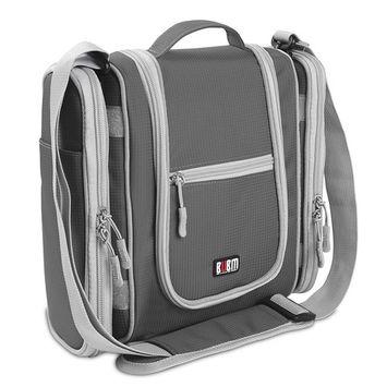 Premium Hanging Toiletry Bag Travel Toiletries Organizer Bag - Travel Makeup Cosmetic Organizer Bag Toiletry Kit for Men Women - Grey