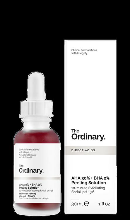 The Ordinary. AHA 30% + BHA 2% Peeling Solution