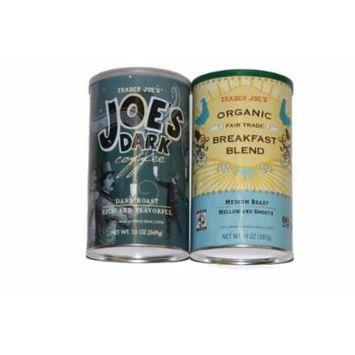 Trader Joe's Coffee Power Pack, Breakfast Blend and Joe's Dark, Whole Bean,