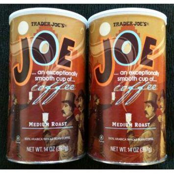 Trader Joe's Joe Coffee, Medium Roast, Whole Bean Coffee, 2 Packs