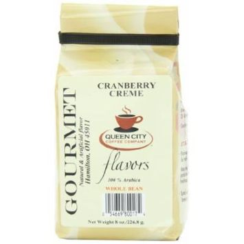 Queen City Cranberry Creme Flavored Whole Bean Coffee, 8-Ounce Bags (Pack of 3)