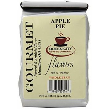 Queen City Apple Pie Flavored Whole Bean Coffee, 8-Ounce Bags (Pack of 3)