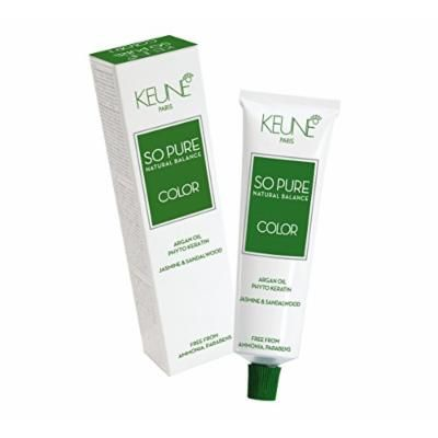Keune So Pure Permanent Hair Color 100% Ammonia Free & Paraben Free Enriched with Argan Oil Hair Coulor 60ml / 2.1oz (#7 Medium Blonde)