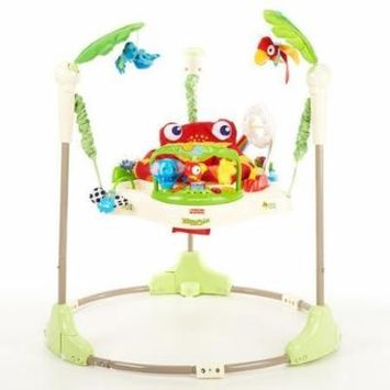 Fisher-Price Rainforest Jumperoo - Baby Jumper Walker Bouncer Activity Seat - Enhances Large Motor Skills through Moving, Spinning and Jumping in a Baby Jumper - Best Value for your Fun Baby