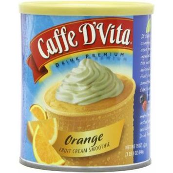 Caffe D'Vita Orange Fruit Cream Smoothie Mix, 19-Ounce Canisters (Pack of 6)