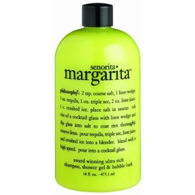 Philosophy Senorita Margarita Shampoo/Shower Gel/Bubble Bath, 16 Ounces