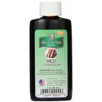 Chef-O-Van Food Coloring, Red, 2 Ounce