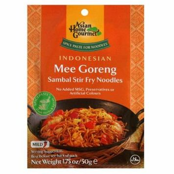 Asian Home Gourmet Mee Goreng Sambal Stir Fry Noodle Mix, 1.75-Ounce Pouch (Pack of 12)