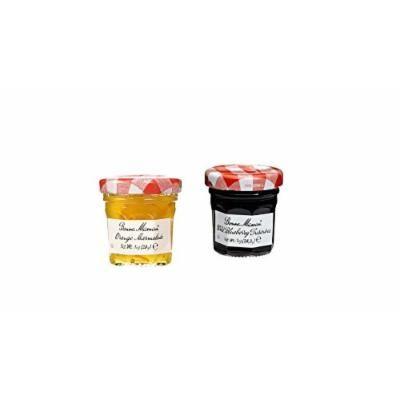 Bonne Maman Duo Mini Jars - 1 Oz X 30 Pcs (15 Blueberry, 15 Orange)