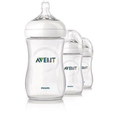 Philips Avent Natural Baby Feeding Bottles 260ml 9oz Triple 3 Pack Scf693/37