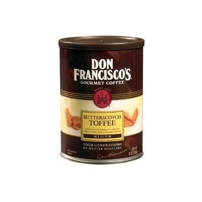 Don Francisco's, Butterscotch Toffee Ground Coffee, 12oz Can (Pack of 3)