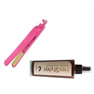 HerStyler Colorful Seasons 1.5 inch Ceramic Straightener with FREE Heat-Protective Cream (Hot Pink)