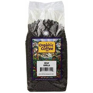 The Organic Coffee Co. Whole Bean, Decaf Gorilla, 32 Ounce