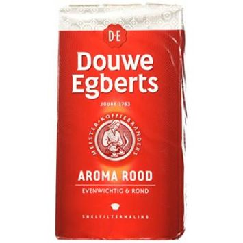 Douwe Egberts Aroma Rood (Fine Grind) 17.6 Oz Each (6 Pack) - Imported From Holland