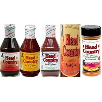 Head Country BBQ Sauce and Seasoning Sampler (Pack of 5)