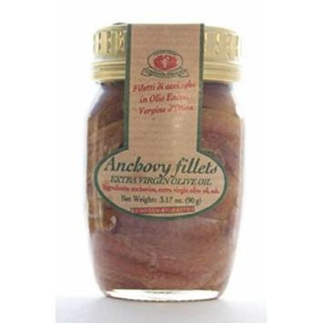 Rustichella D' Abruzzo Anchovy Filets in Extra Virgin Olive Oil, 3.2 Ounce