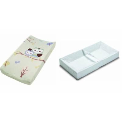 Summer Infant 4 Sided Changing Pad & Plush Pals Changing Pad Cover - Owls