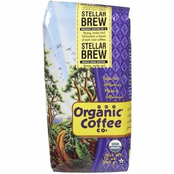 The Organic Coffee Co. Ground, Stellar Brew, 2 Ounce (Pack of 12)