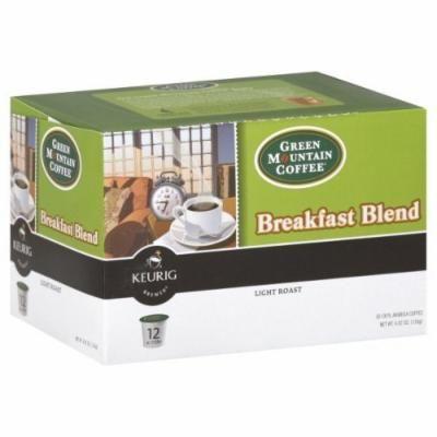 Green Mountain Coffee K-cups, Light Roast, Breakfast Blend, 12 Ct