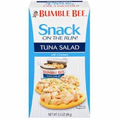 BUMBLE BEE Snack On The Run! Tuna Salad with Crackers Kit ~ (pack of 6)