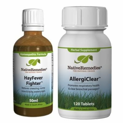 Native Remedies HayFever Fighter and AllergiClear ComboPack